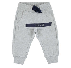 Fleece tracksuit bottoms with kangaroo pocket   GREY