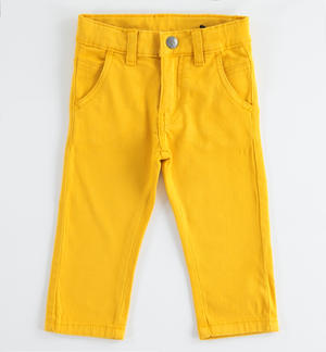 Denim fleece trousers YELLOW
