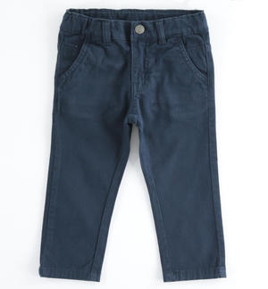 Denim fleece trousers BLUE