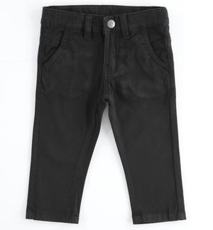 Denim fleece trousers BLACK