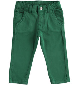 Denim fleece trousers GREEN