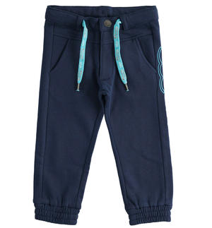 """Sarabanda interprets 500e"" organic cotton fleece trousers BLUE"
