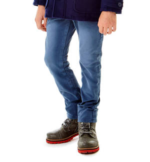 Fleece trousers with a hot finish for boys BLUE