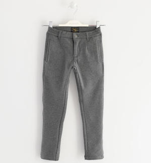Fleece trousers, brushed inside GREY