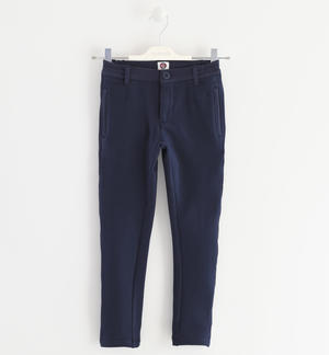 Fleece trousers, brushed inside BLUE