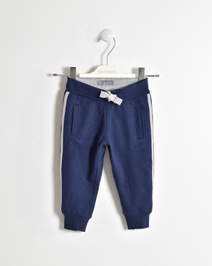 KNITTED TROUSERS BLUE