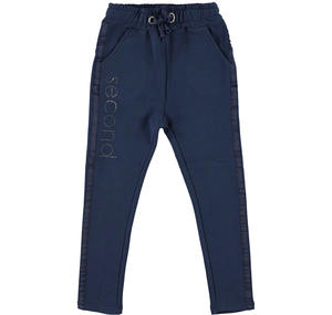 Pantalone in felpa stretch di cotone BLU