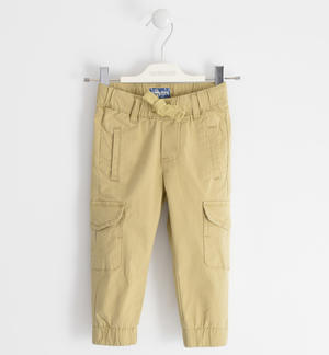 Poplin trousers, cargo fit