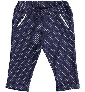 Baby boy trousers of stretch viscose blend Milano stitch BLUE