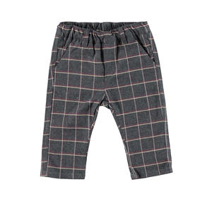 Checked flannel trousers  RED