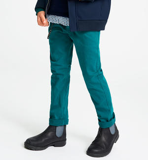 Slim fit stretch twill trousers with key ring GREEN