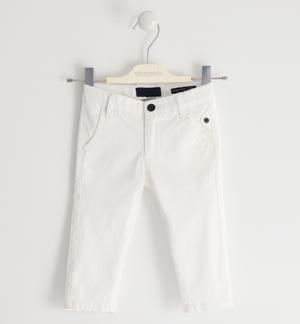 Stretch twill trousers WHITE