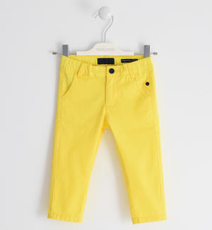 Stretch twill trousers YELLOW