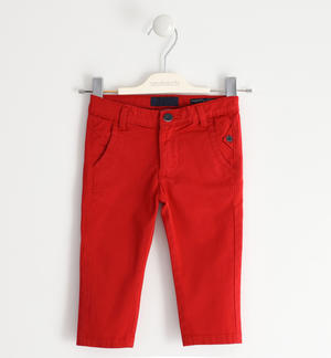 Stretch twill trousers RED