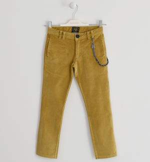 Trousers made of corduroy YELLOW
