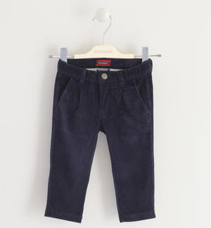 Chino model striped corduroy trousers BLUE