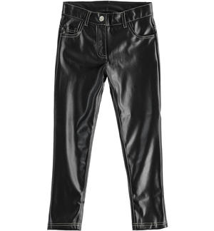 Slim fit vinyl trousers