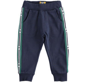 100% cotton long trousers BLUE