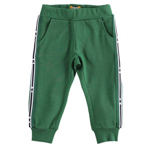 100% cotton long trousers GREEN