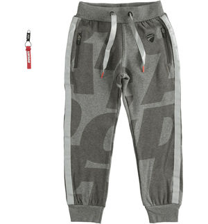 "Long trousers in brushed fleece ""Sarabanda interprets Ducati"" GREY"