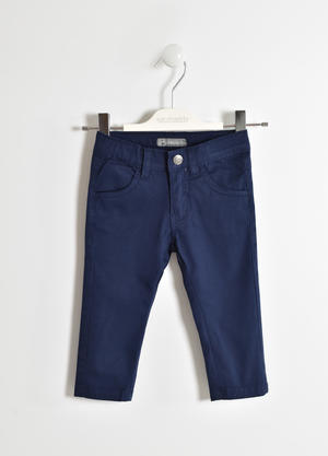 Stretch twill long trousers BLUE