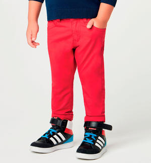 Stretch twill long trousers RED