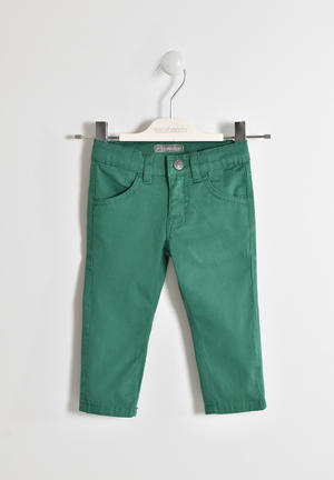 Stretch twill long trousers GREEN
