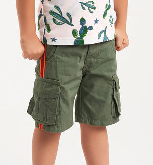 Cargo trousers with side tapes GREEN