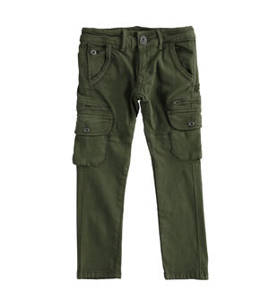 Cargo model trousers in cotton twill