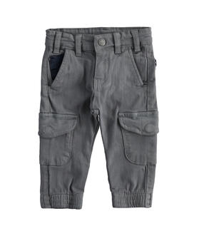 Cargo model trousers in stretch twill GREY
