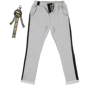 Trousers with a low crotch and keychain GREY