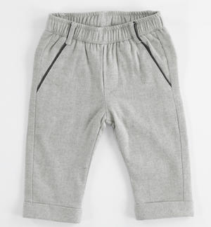 Peach skin shuttle weaving stretch trousers GREY