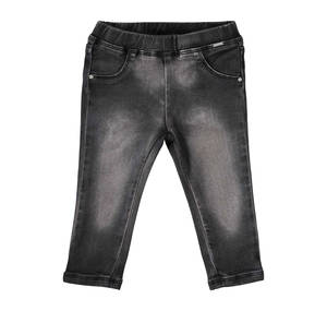 Jeggings-trousers with mock pockets BLACK