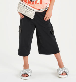 Palazzo trousers with sequins on the pockets