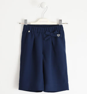Palazzo model trousers in crepe BLUE