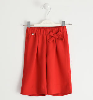 Palazzo model trousers in crepe RED