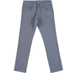 Slim fit trousers in stretch cotton twill  GREY
