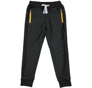 Tracksuit bottoms in acetate fabric  BLACK
