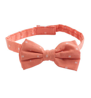 Abstract pattern classic bow tie with velcro strap ORANGE