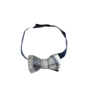 Newborn bow tie with comfortable adjustable strap BLUE