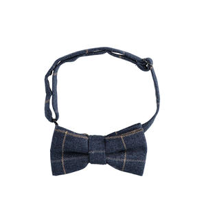 Check patterned bow tie BLUE