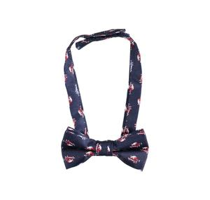 Car patterned bow tie with velcro strap BLUE
