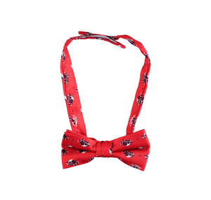 Car patterned bow tie with velcro strap RED