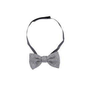 Bow tie in a herringbone type jersey fabric GREY
