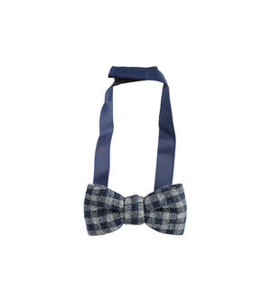 Solid color newborn bow tie with adjustable Velcro strap GREY
