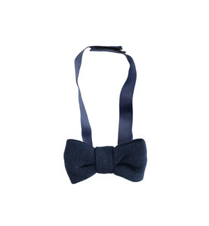 Solid color newborn bow tie with adjustable Velcro strap BLUE