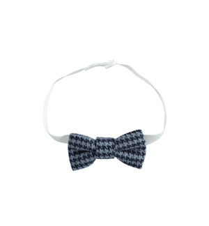 Newborn boy bow tie in houndstooth