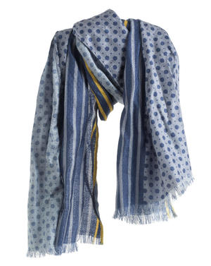 Stripes and polka dot pashmina GREY