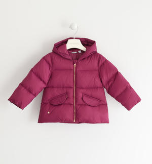 Real goose padded down jacket FUCHSIA