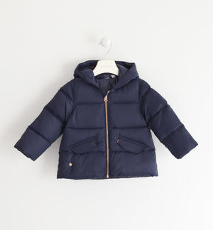 Real goose padded down jacket BLUE